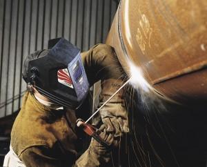 Welding carbon steel